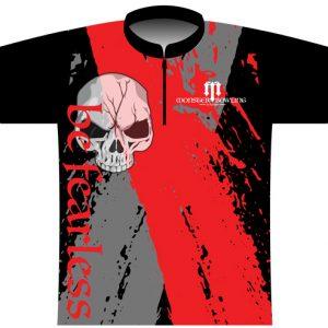 Monster Bowling Red Grey Skull Jersey
